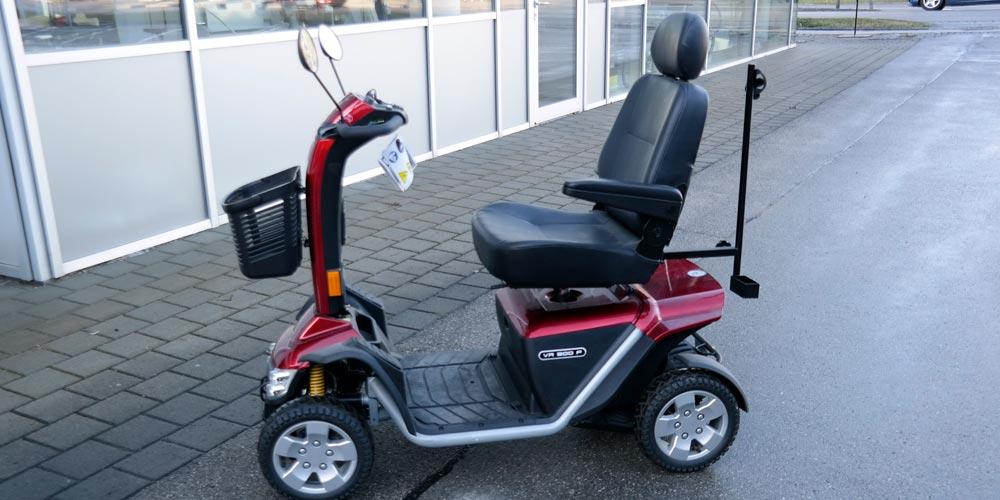 ansicht eines gebrauchten e scooter