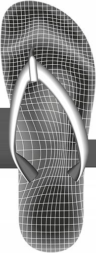 Gittergrafik einer NovaPED-Sandale